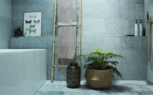 Ölandskalksten Kalksten vägg badrum