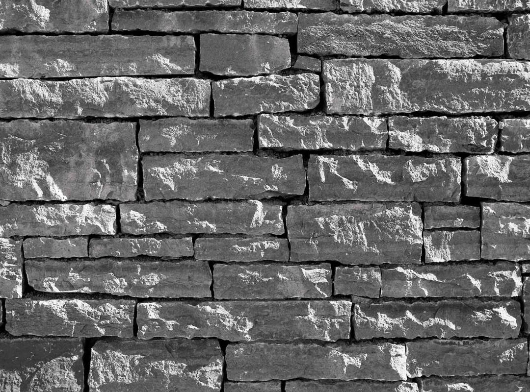 Väggfasad av kalksten / Mur av kalksten